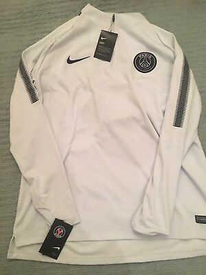 Nike Paris Saint-Germain Dri Fit Squad Drill 854524-047 PSG Size Small Zip