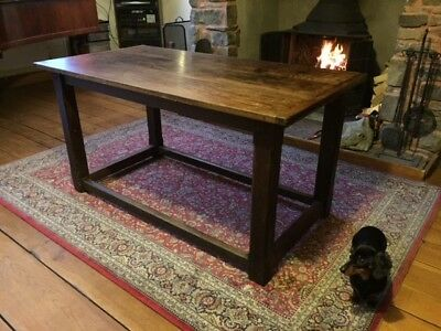 Rare original 17th/18th Century Hardwood Table, refectory style