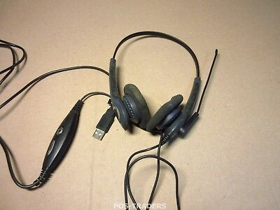 Jabra GN NETCOM Gn2000 Duo USB Stereo Sound Tube IP Computer Headset 20001-091