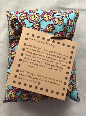 Rice Bag,Heat & Cold Wrap Microwavable Natural Pain Therapy Lavender Scent