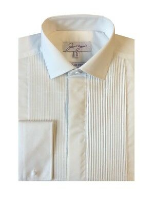 Slim Fit Evening Dress Shirt - Pleated Regular Collar
