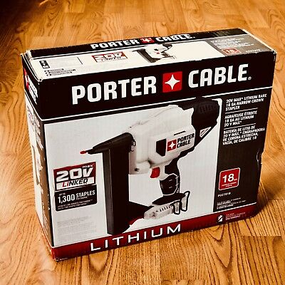 Porter Cable 20V 20 Volt Cordless 18GA Crown Stapler Nail Gun PCC791B