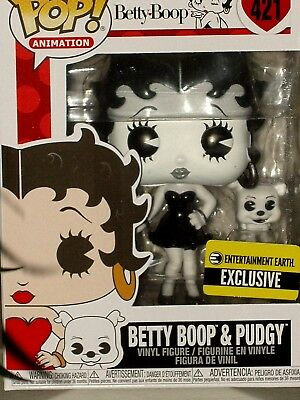 Funko Pop! Animation Betty Boop & Pudgy Black & White EE Excl Vinyl Figure #421