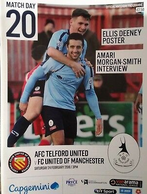 AFC Telford Utd vs FC United of Manchester 2017/18 2018 National North Programme