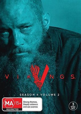 Vikings : Season 4 : Part 2 (DVD,  3-Disc) R-4-NEW AND SEALED-FREE POST AUS-WIDE