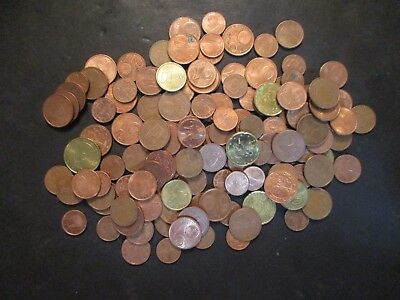 Euro Coin Lot, 2000 - Current, Circulated & New, 1 lb tare, un searched