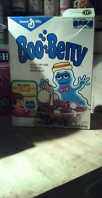 Vintage 2015 Boo Berry Cereal Box