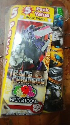Fruit of the Loom Boys Transformers Brief 5 Pack Size 4