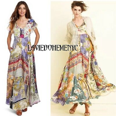 Johnny Was Dolce Vivo Silk Multi Patchwork Goddess Full Sweep