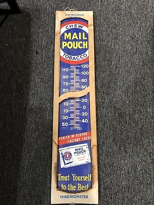"""Vintage """"mail Pouch"""" Tobacco Thermometer"""