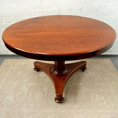 Antique Victorian 'Jersey' Round Tilt Top Breakfast Table / Dining Table c1870