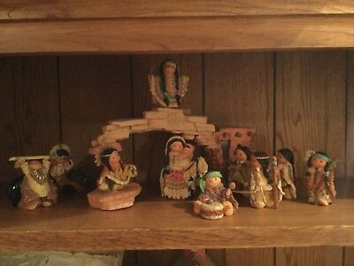 enesco friends of the feather nativity set 10 figurines and achway