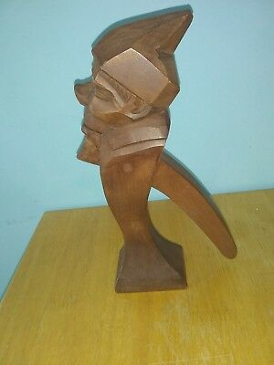 Vintage Antique Black Forest Wooden Nutcrackers Treen