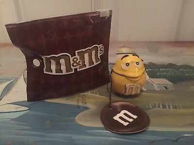 M&M Yellow Face  Hinged Trinket Boxes Compact Keepsake Monet New In Package