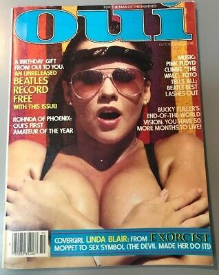 Oui Magazine October 1982-Vintage Ultra Rare Linda Blair Nude Issue-Very Good+
