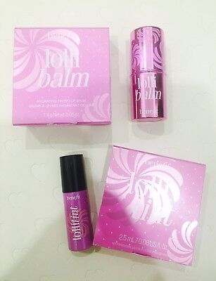 Benefit Lollibalm Tinted Lip Balm 1.4g & Lollitint 2.5ml Orchid Cheek Stain Set