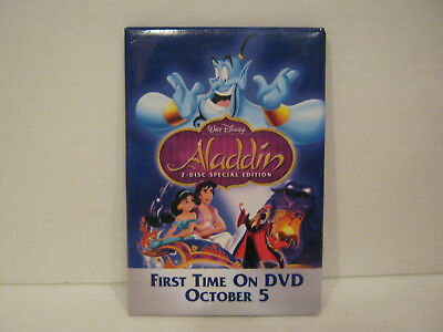 Aladdin - First Time on DVD Promotional Button...