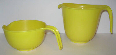 Rubbermaid 6-Cup & 3-Cup Mix 'N Grip Yellow Batter Bowls with Handles, Spouts