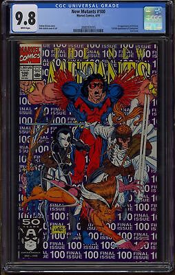 The NEW MUTANTS #100 CGC 9.8 NM/MT 1st app of X-Force-Cable-Movie! WHITE PAGES!