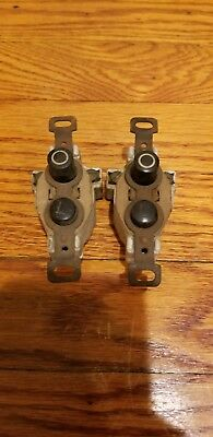 Antique Pair Of Push Electrical Button Switches Lower L