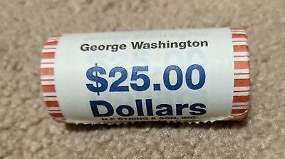 2007 P George Washington Presidential $1 Dollar Unopened 25 Coin Bank Roll