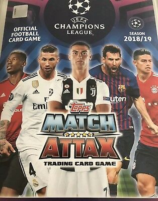 Match Attax Weihnachtskalender.Match Attax 18 19 Adventskalender Champions League 50 Karten Inkl 2 Limis