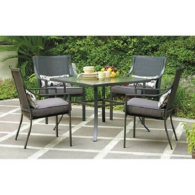 Outdoor Dining Table Set Patio Sets Furniture Clearance 5 Piece 4 Chairs Cushion