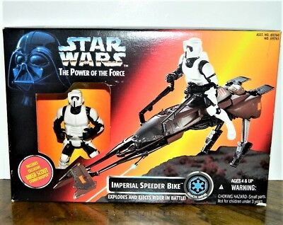 Star Wars The Power of the Force Imperial Speeder Bike Scout Figure Set 1995