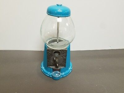 Vtg Rare Jolly Good Industries Sky Blue Metal Gumball/ Candy/ Nuts Machine 9