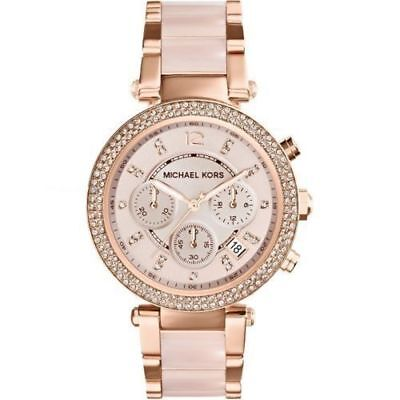 NEW Michael Kors Parker Ladies Watch Blush Dial Rose Gold MK5896 39MM