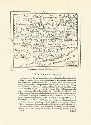 An antique map of Leicestershire - 18th century