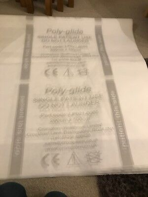 5 Poly-glide Single Patient Use Slide Sheets Size200cm X 100 ( NEW)