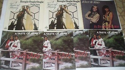 A Taste Of Honey 7 Picture Sleeves Boogie Oogie Oogie / Sukiyaki / I'll Try Some