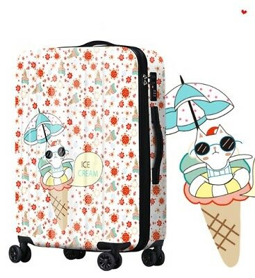 D789 Cartoon Cat Universal Wheel ABS+PC Travel Suitcase Luggage 24 Inches W