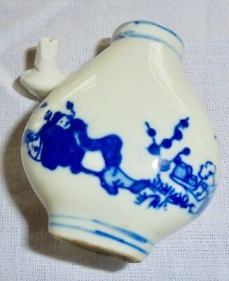 L208 Lovely Vintage Chinese Porcelain Snuff Bottle Cobalt Blue and White.