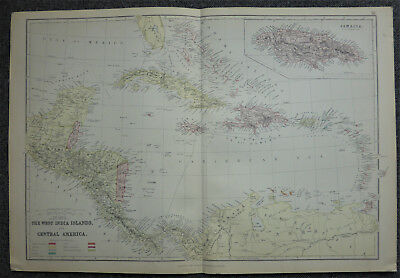 Edward Weller map of The West Indies c1864