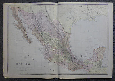 Edward Weller map of Mexico c1864