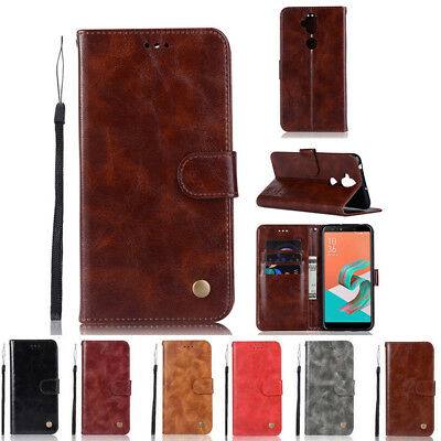 Luxury Retro Leather Case Wallet Stand Cover For Asus Zenfone 5 lite ZC600KL