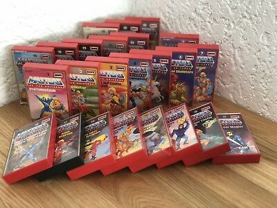 HE-MAN Masters of the Universe - 24x Hörspiel Kassetten * 80er * MOTU * TOP