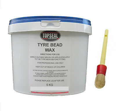 Tyre Fitting Wax With Brush Premium Lub Tyre Soap Tyre Bead Wax 5kg Tub