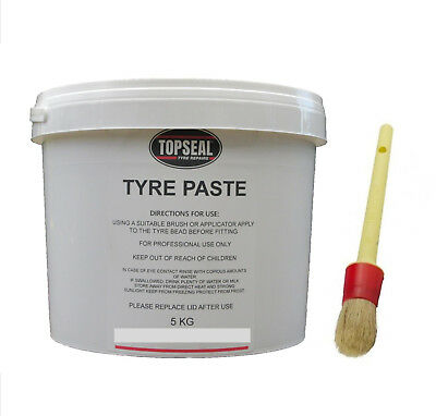 Tyre Fitting Paste With Brush Premium Lub Tyre Soap Tyre Bead Paste 5kg Tub