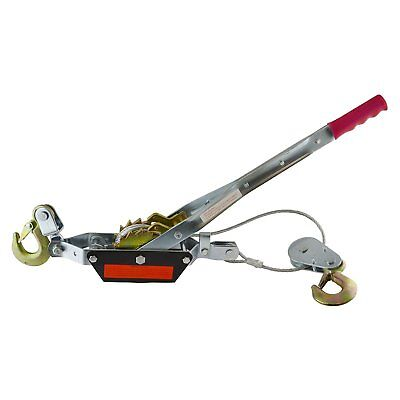 2 Ton Hand Power Wired Cable Puller Winch Turfer Pulley Soft Grip Handle