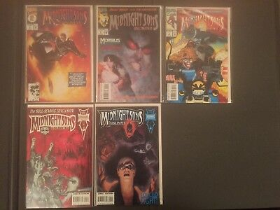 Marvel Comic Book Midnight Sons Unlimited 1 - 5 Near Mint Cover Artists Horror