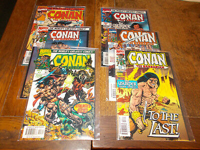Conan the Barbarian 1-3 & Usurper 1-3 Complete sets Marvel 1997 Ave VFN+