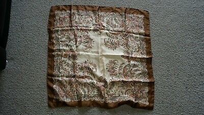 Vintage genuine Liberty of London silk scarf hand rolled hand stitched edges