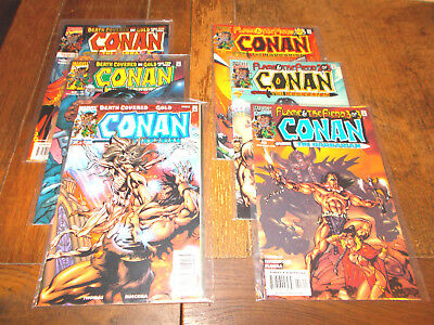 Conan the Barbarian - Death Covered in Gold 1-3, Flame & the Fiend 1-3 Ave NM-