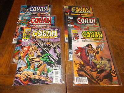 Conan the Barbarian - Scarlet Sword 1-3, Return of Styrm 1-3 Ave VFN+