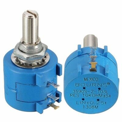 1pc 3590S-2-103L 10K Ohm 10-Turn Rotary Wire Wound Precision Potentiometer Pot