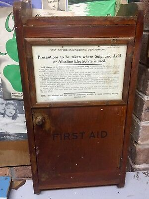 Pre War Post Office Engineering First Aid Cupboard