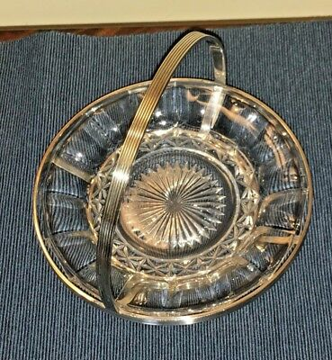 Art Deco Daniel Arter & James Jobling Silver Plated Dish With Glass Insert 1926